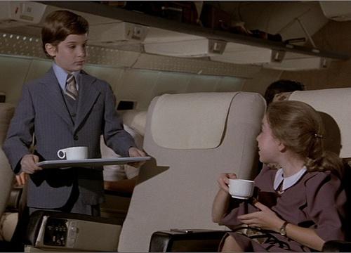 Airplane! (1980)    Little Boy: Cream?  Little Girl: No, thank you, I take it black, like my men.