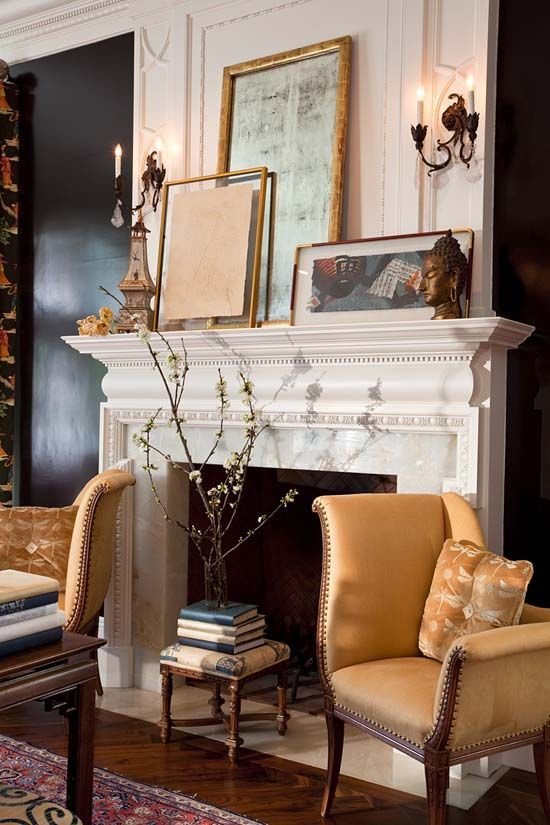 Fireplace arrangement charisma design | lovely mantel and styling