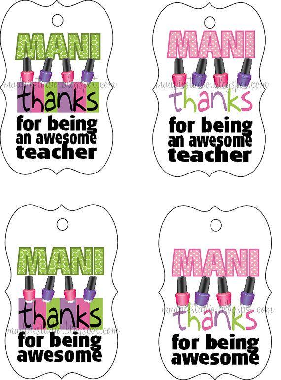 picture about Mani Thanks Free Printable named Terri Blanc (treatfive) upon Pinterest