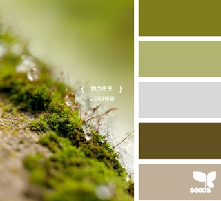 love this moss green colour palette for the lounge