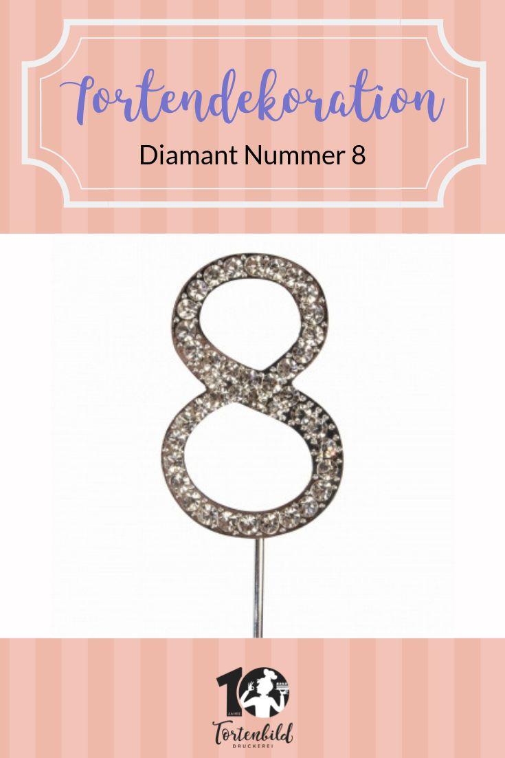 Cake Star Cake Topper Diamant Nummer 3