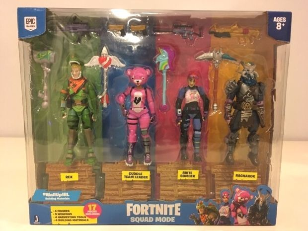 Rare Brand New Fortnite Squad Mode 4 Action Figures Set In Box