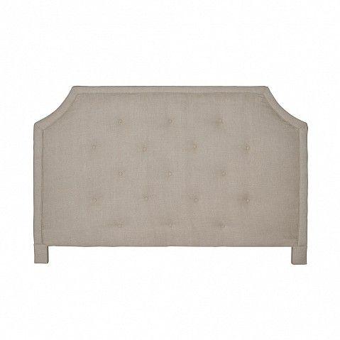 Contemporary linen headboard