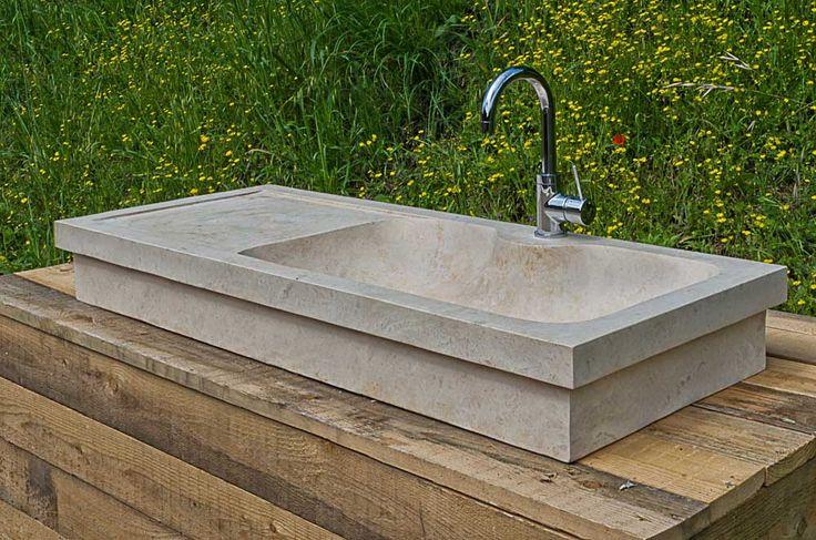 19 best Lavabi da cucina in pietra images on Pinterest  Travertine Farmhouse sink kitchen and