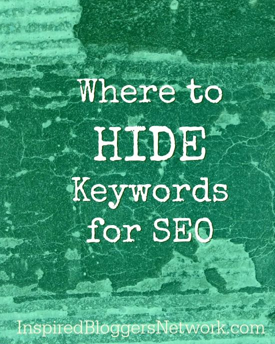 Hiding SEO Keywords in Blog Posts at the Inspired Bloggers Network