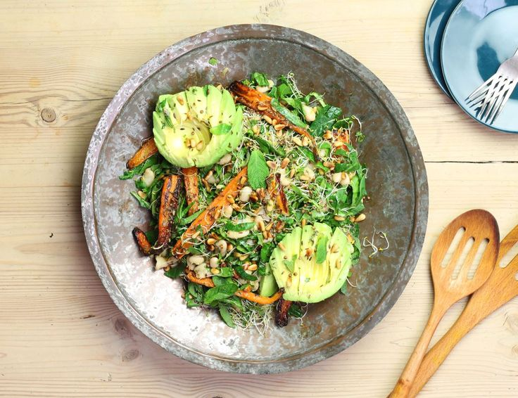 Egyptian Roast Carrot & Avocado Salad Recipe | Abel & Cole