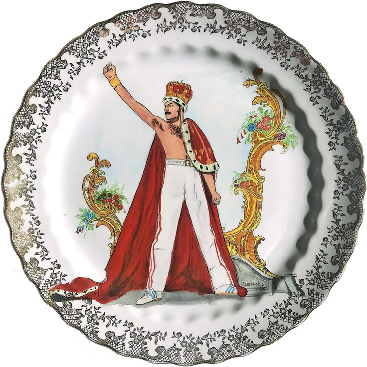 Freddie Mercury - Queen -  Vintage Porcelain Plate - #0586 by ArtefactoStore on Etsy