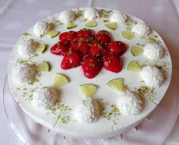 sommerliche Frischkäse-Torte