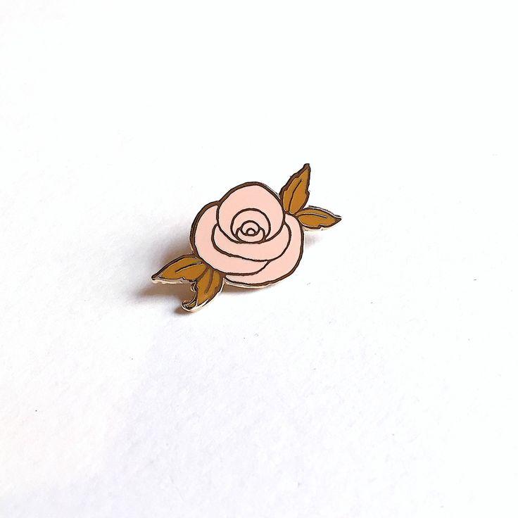 Desert rose pin