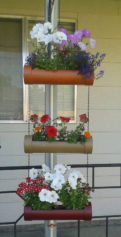 pvc pipe hanging planter by michker88 on Etsy