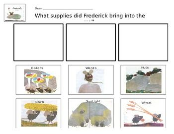 Leo Lionni's Frederick Comprehension