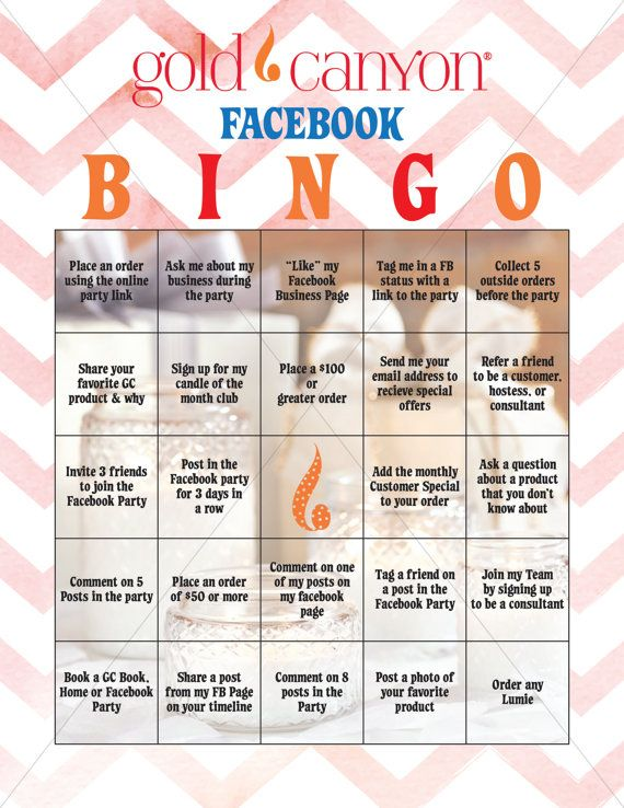 Gold Canyon Facebook Bingo Game   This is a digital download file only no physical product will be shipped to you. Size is 8.5 x 11 sheet.