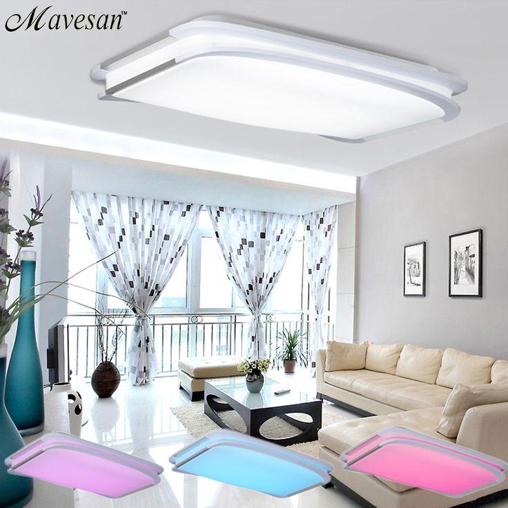 Ucuz 2016 YENI Modern RGB Tavan Işık RGB + Soğuk beyaz + Sıcak beyaz Akıllı LED Lamba gölge/Modern Tavan oturma odası için ışık, Satın Kalite tavan ışıkları doğrudan Çin Tedarikçilerden: lütfen Not:1. tavan ışık of AC110V-AC260V votage mevcuttur,bu destek AC110V & AC220V.2. The parlaklık ve renk u