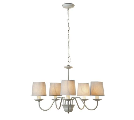 Buy Heart of House Aster 5 Light Chandelier Ceiling Light - Grey at Argos.co.uk - Your Online Shop for Ceiling and wall lights, Lighting, Home and garden.