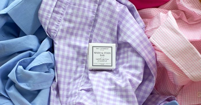 Ward off ring-around-the-collar (and cuffs) by pretreating blouses and dress shirts before every wash and you won't be that guy or gal with the embarrassing stain.