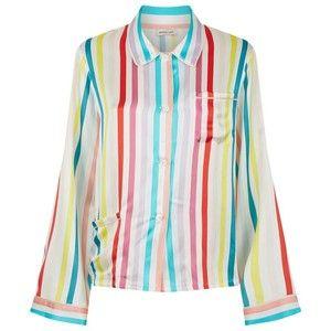 Morgan Lane Silk Striped Pyjama Shirt