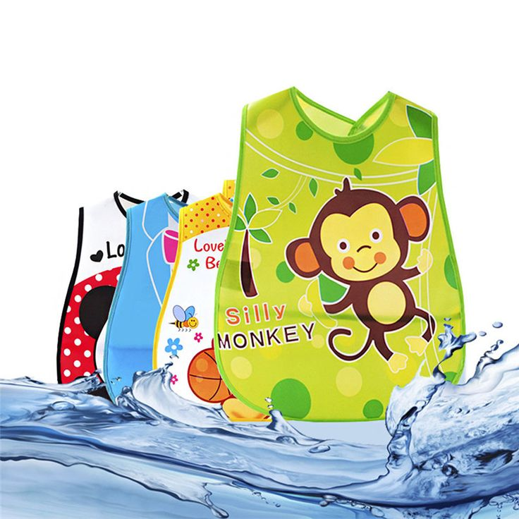 Baby Cartoon Bibs Waterproof Kids Cute Pattern Bandana Boys Girls Infants Burp Clothes Feeding Care Adjustable Lunch Bibs Newest