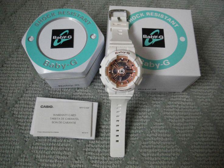 $120 Baby G Shock Watch NWT Casio White #Casio #LuxurySportStyles