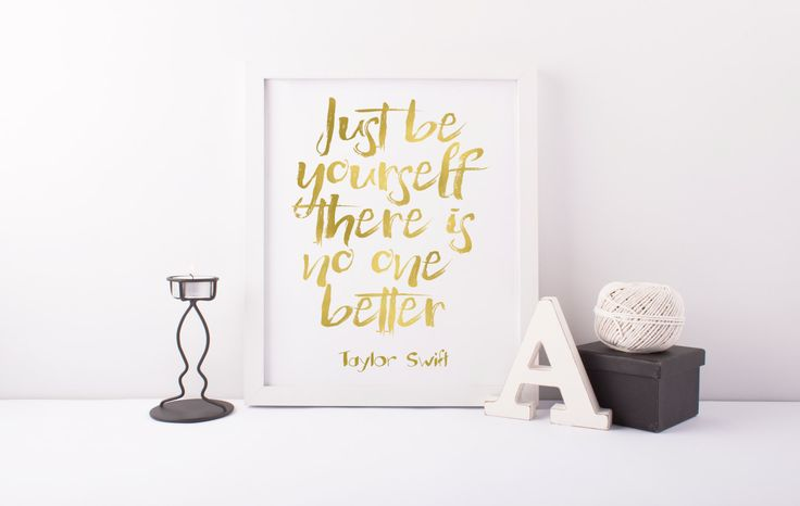 Girl Room Decor, Teen Print, Women Gift, Digital Print, Taylor Swift Print, Just Be Yourself There Is No One Better, Taylor Swift Quote von sweetandhoneyprints auf Etsy