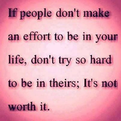 Wish I figured this out a long time ago. There is a big difference between being manipulated for some one's gain only when they need you and making an effort to be in their lives.