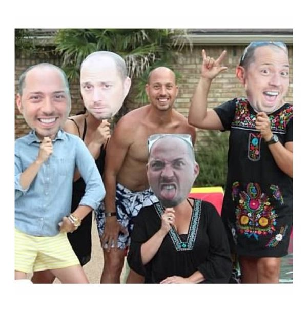 Awesome 40th birthday pic from a customer  $11.99 of #BuildAHead fun. #bigheads #happybirthday #surprise