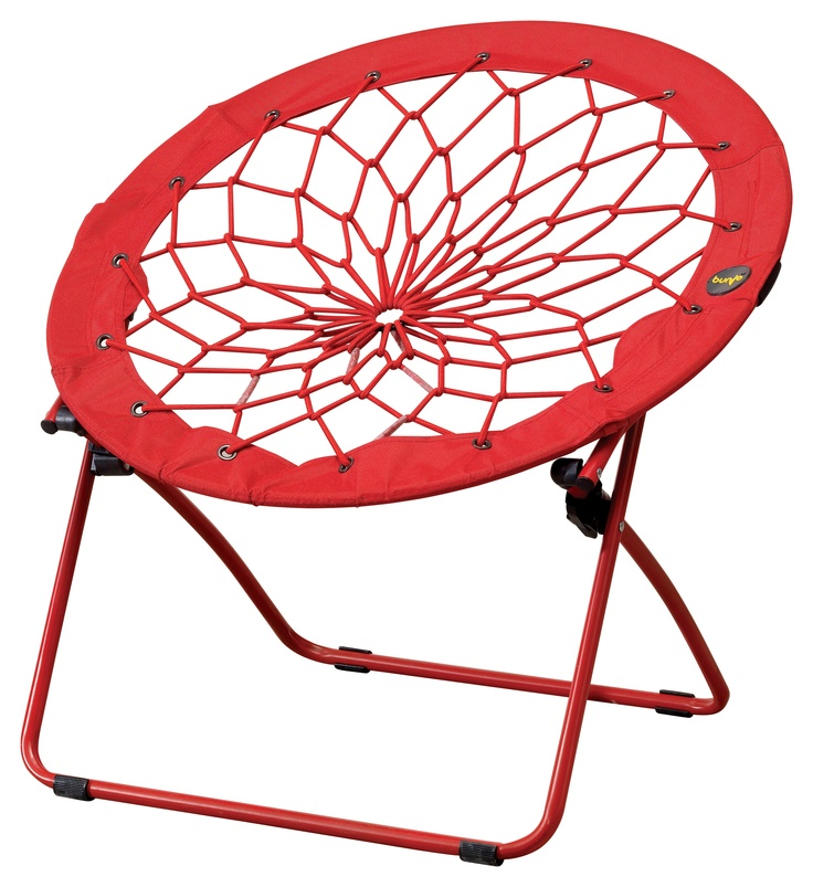 "What is this you ask?  It's a chair!! •Lightweight and portable •Perfect for small spaces •Folds and stores easily •Fun and flexible •Metal tubing construction •Rubber band bungee cord •Nylon covering •32""W x 27""D x 32""H"