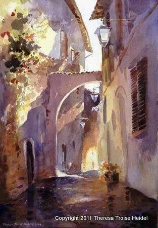 Oil Pastel Art Landscape