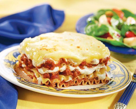 Quick Sausage Lasagna Bake