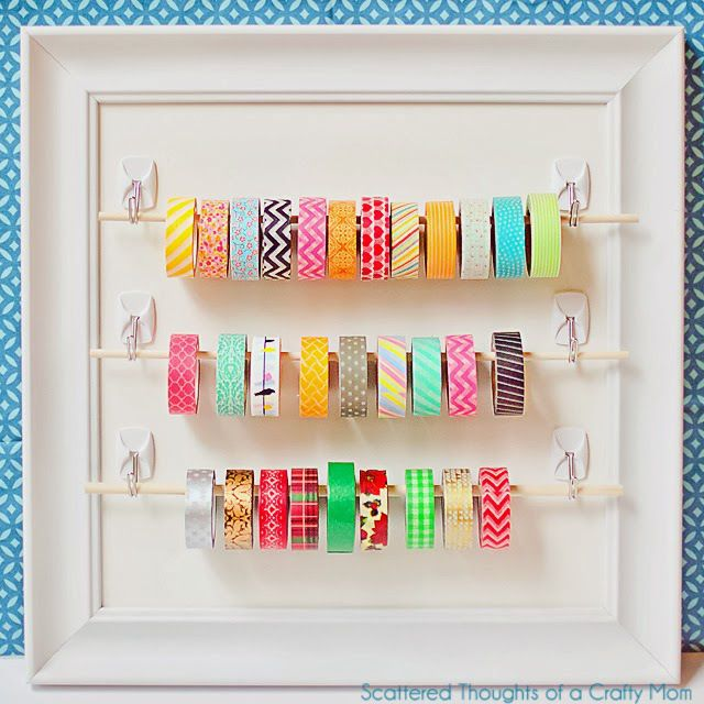 Simple and cute washi tape storage.