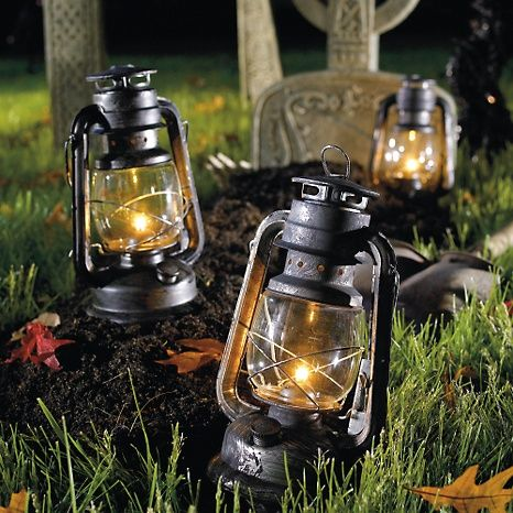 Battery Operated Oil Lantern