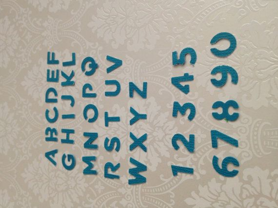 Hand punched alphabet & numbers   by PaperCraftingByMandy on Etsy, $2.00