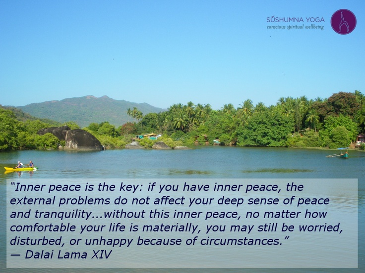 """""""Inner Peace Is The Key: If You Have Inner Peace, The"""