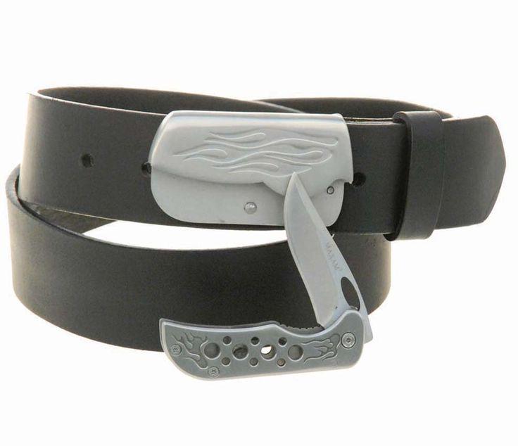 Magnetic Lock Knife Belt Buckle