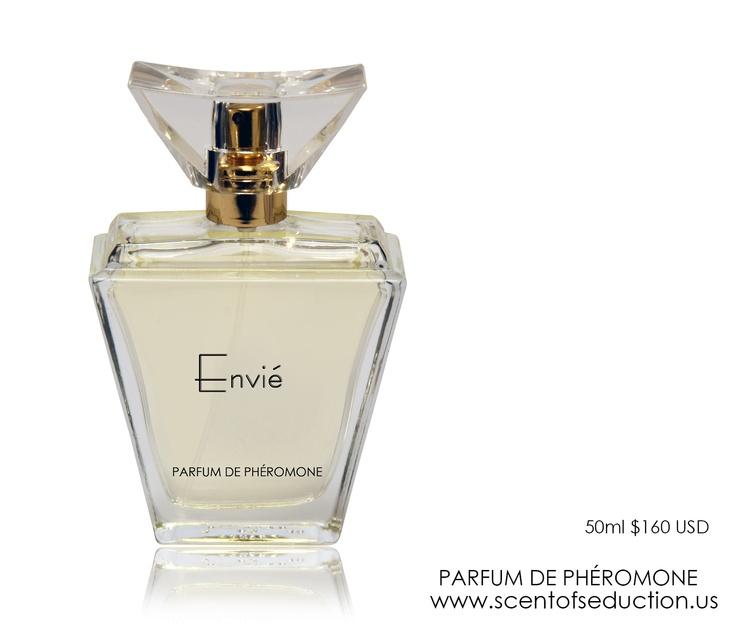Envié Parfum de Phéromone - notes of grapefruit and bergamot open to rose and jasmine.   www.scentofseduction.us