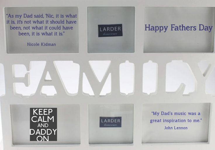 Happy Fathers Day from LARDER Homeware