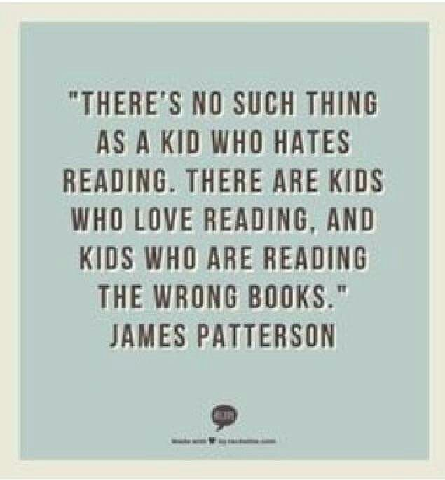 This is just another reason why James Patterson is awesome