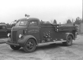 Bowling Green Volunteer Fire Department, Bowling Green, Caroline County, VA - 1947 Ford #blackandwhite #ford #virginia #caroline #bowlinggreen #fire #truck #setcom #vintage #retired #oldschool http://setcomcorp.com/1600intercom.html