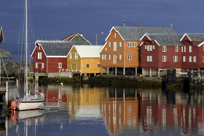 Seahouset at Ona by Trond J. Hansen