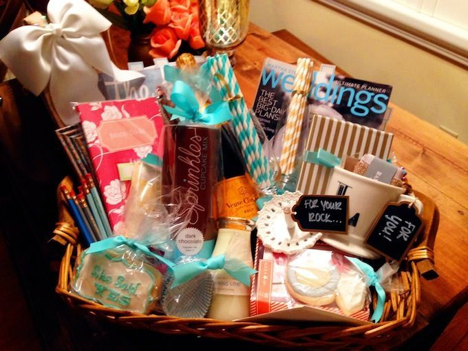 How-To: Engagement Gift Basket | Hosting & Toasting engagement gift ideas
