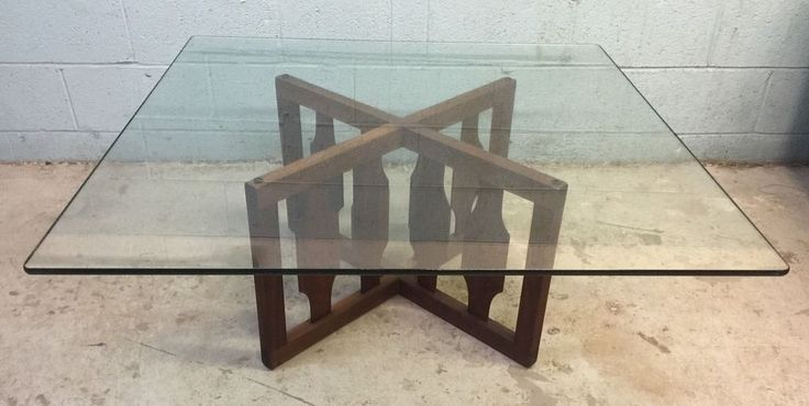 Best Mid Century Solid Walnut Probber Style X Base Coffee Table 640 x 480