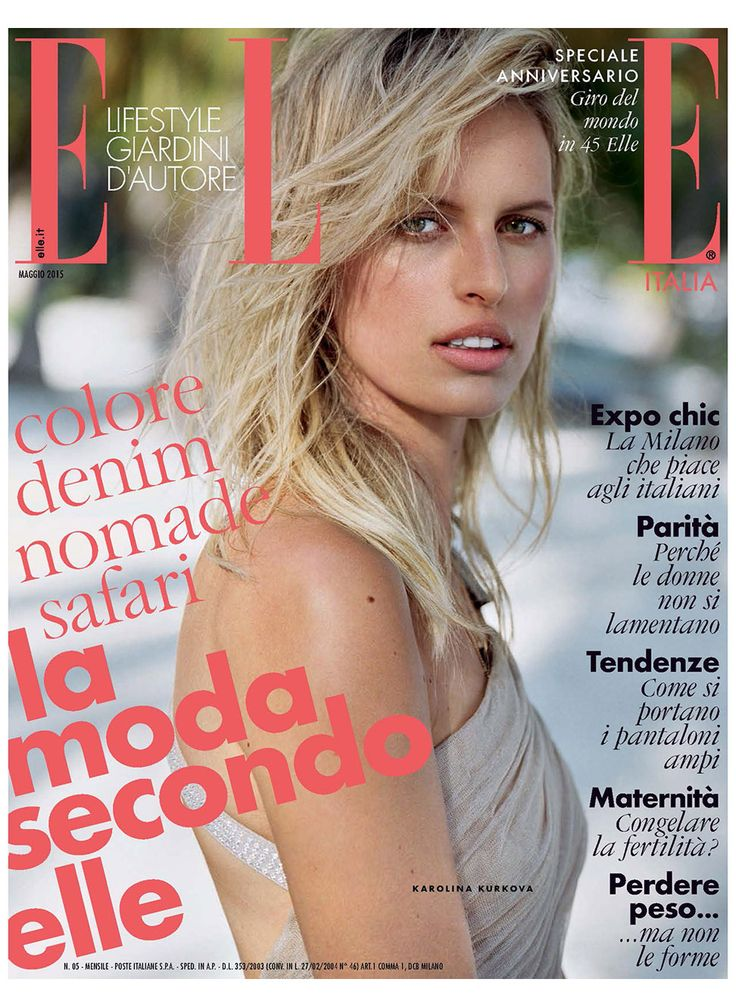 Elle Magazine Italy May 2015 Cover