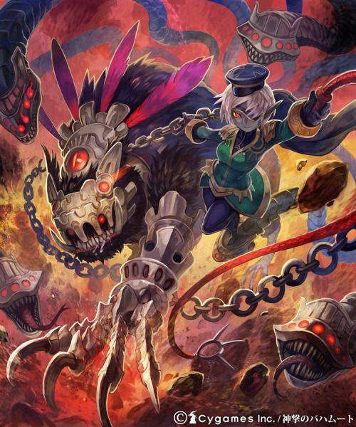 「デモンビーストマスター」  神撃のバハムートにて制作させていただきました。  魔獣を従え戦場を駆ける調教師という感じ。  魔獣デザインが気に入ってます