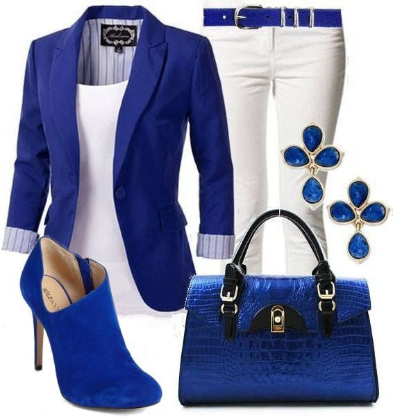 Electric Blue & White ♥