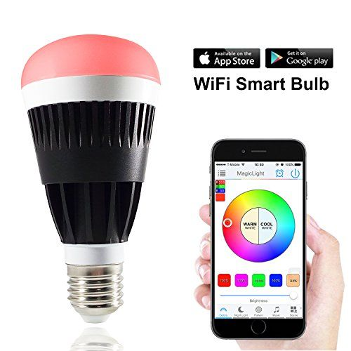 MagicLight Pro WiFi Smart LED Light Bulb  Smartphone Controlled Sunrise Wake Up Lights  Dimmable Multicolored Color Changing LED Night Light  Works with Alexa  10 Watts 80Watts Equivalent >>> BEST VALUE BUY on Amazon