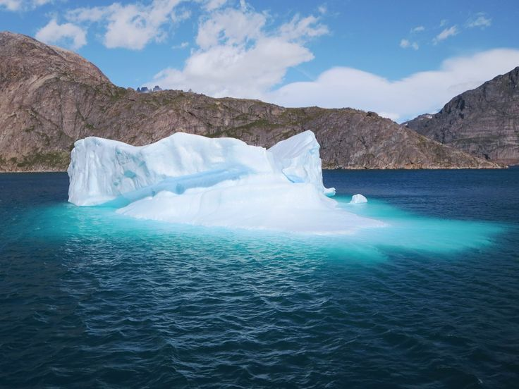 This strikingly beautiful iceberg is in Prins Christian Sound near Aappilattoq, Greenland.