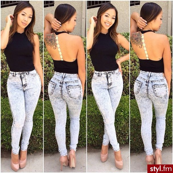 185 best high waisted jeans images on Pinterest
