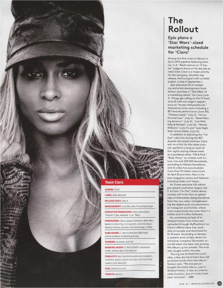 Ciara Album Feature in Billboard!