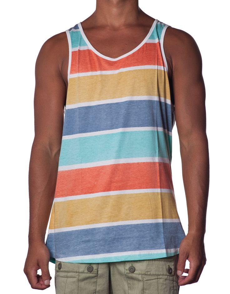 Pastel Stripe Singlet