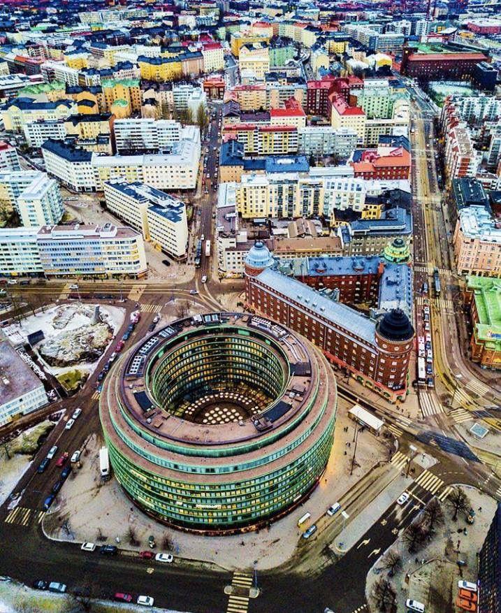 Hakaniemi, Helsinki #Helsinki #Finland #Hakaniemi #aerial