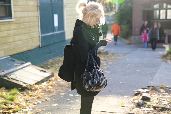 Sophie Sumner wearing Burberry